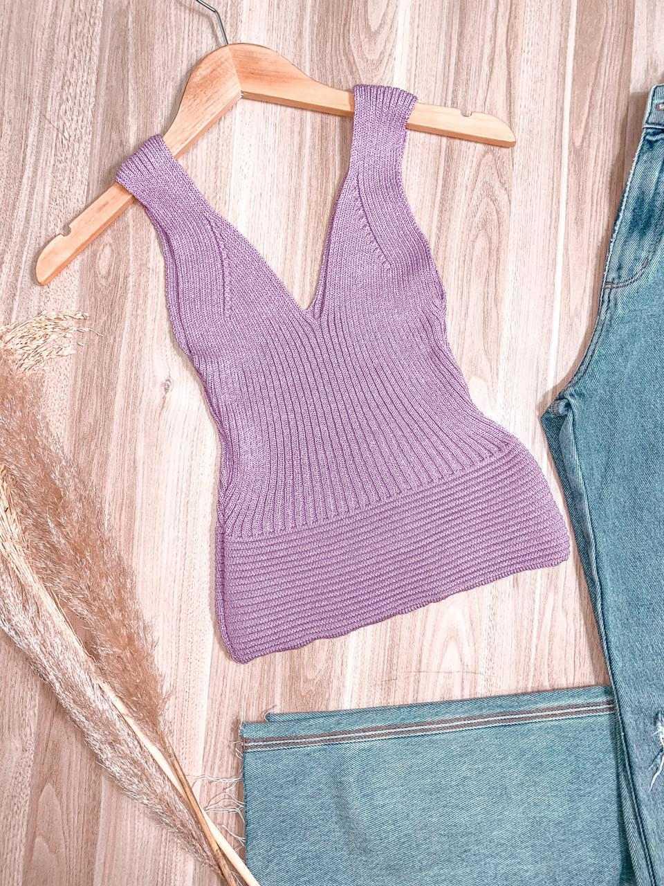 Regata Cropped Tricot Modal Júlia
