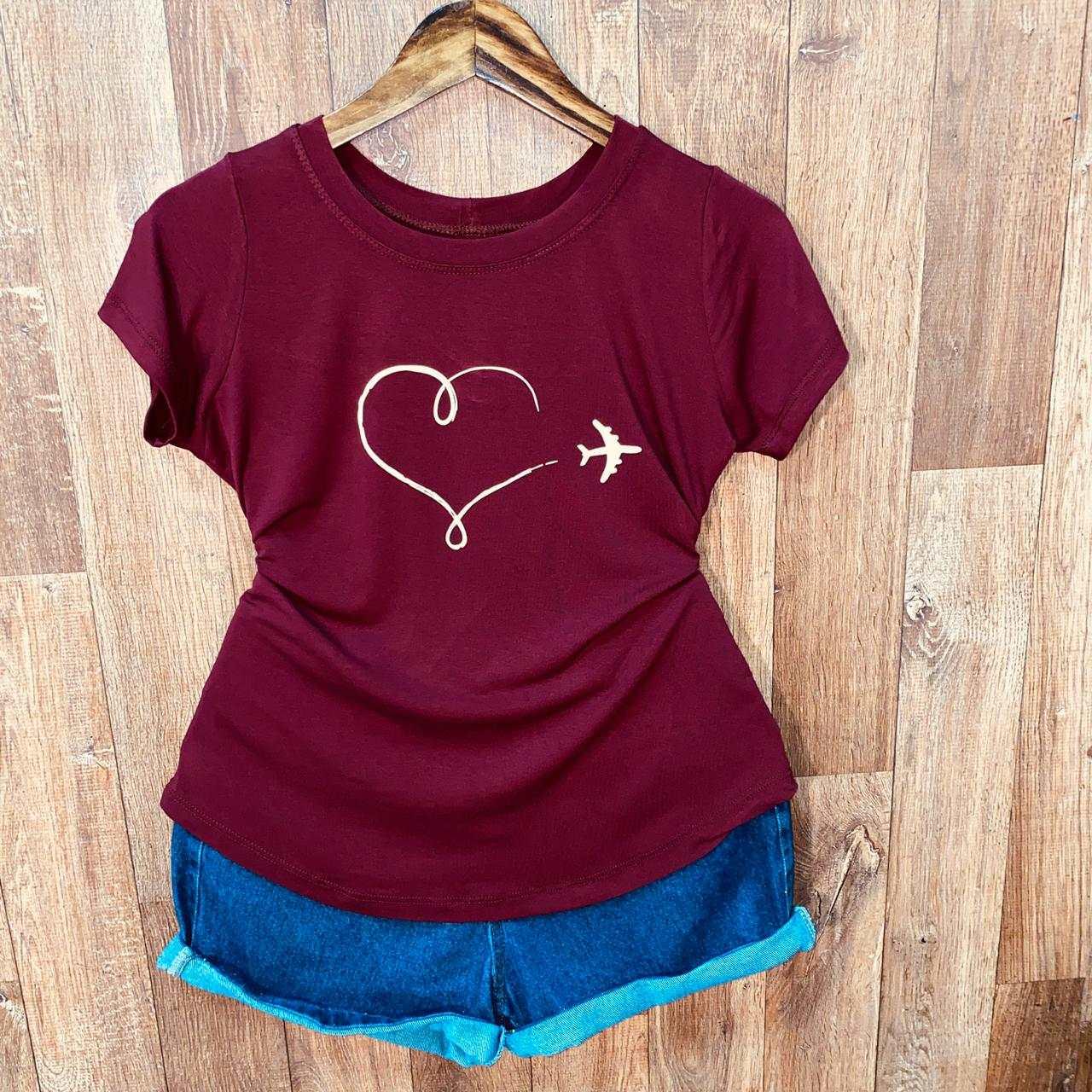 T-shirt Airplane Heart