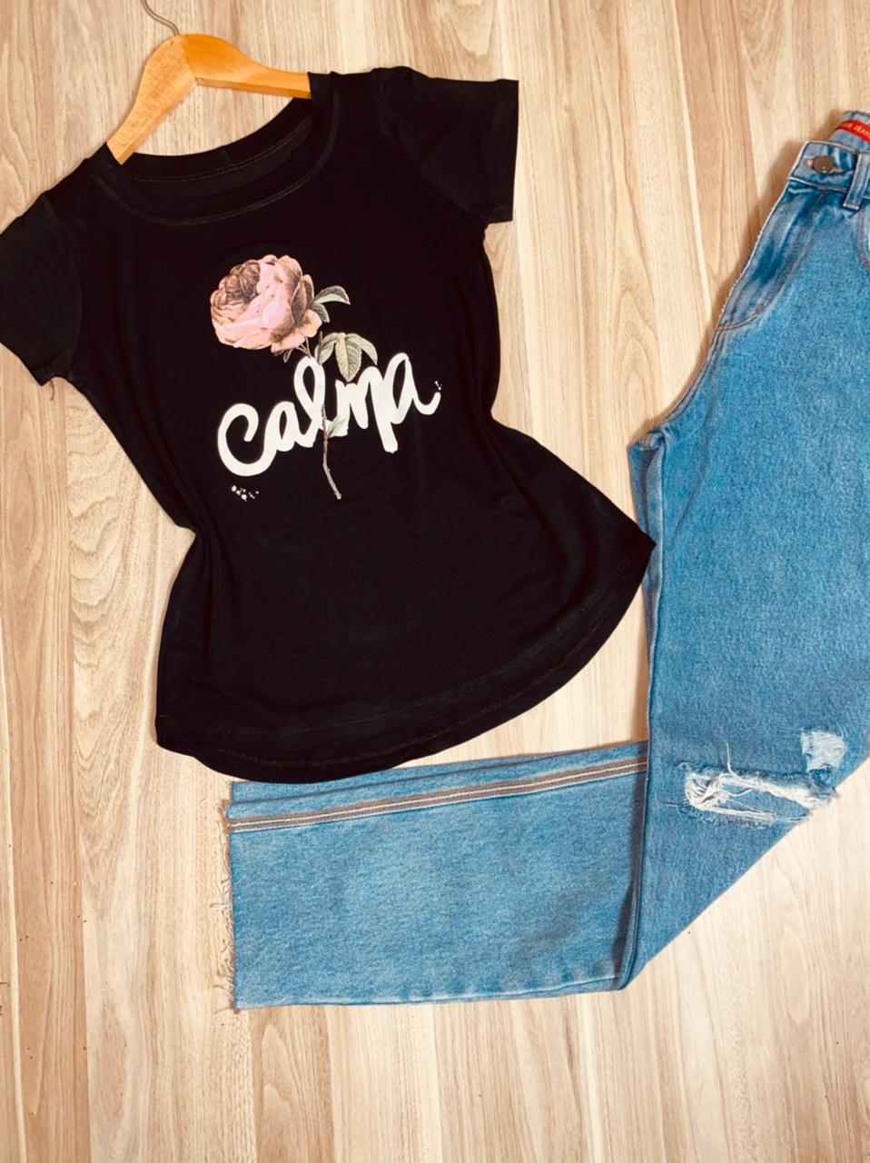 T-shirt Calma Rosas