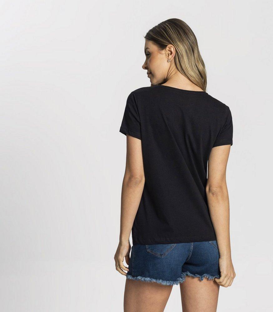 T-Shirt Com Estampa Feminina Listen Your Heart