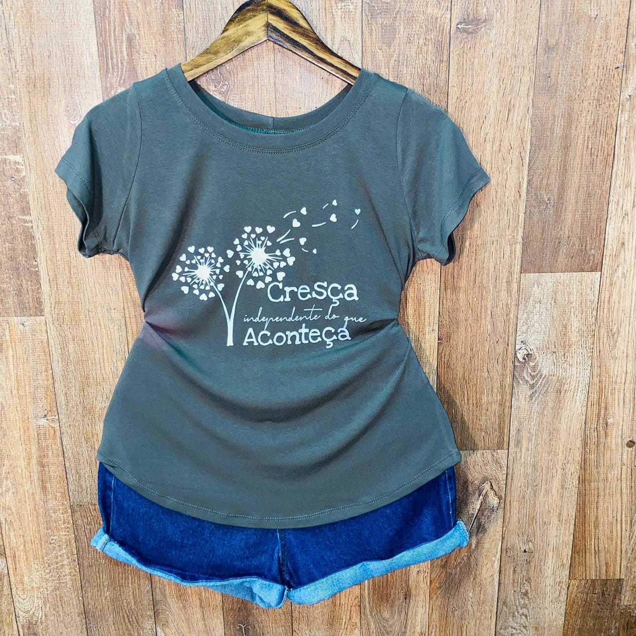 T-shirt Cresça Independente Do que Aconteça
