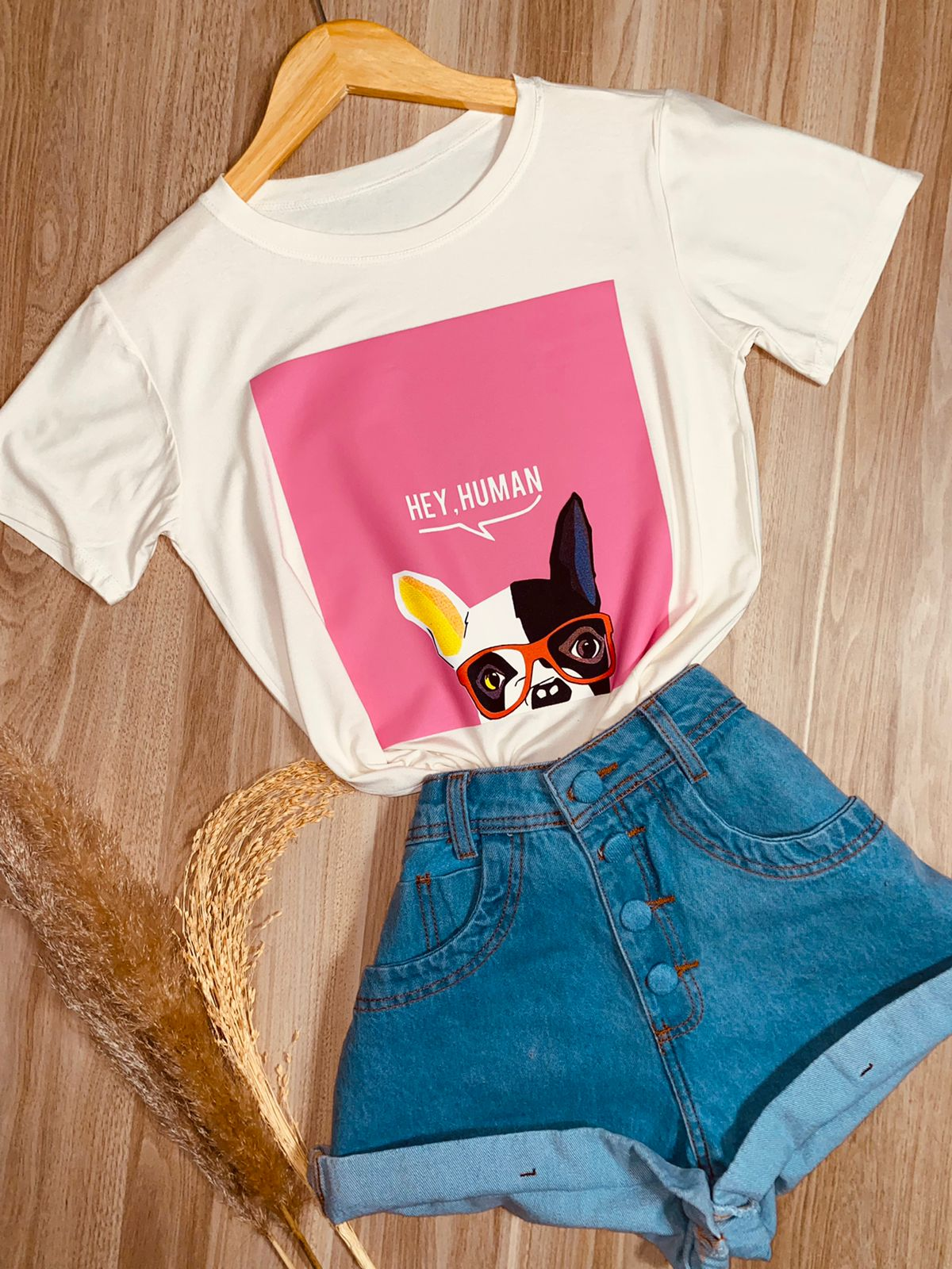 T-shirt Dog Hey Human