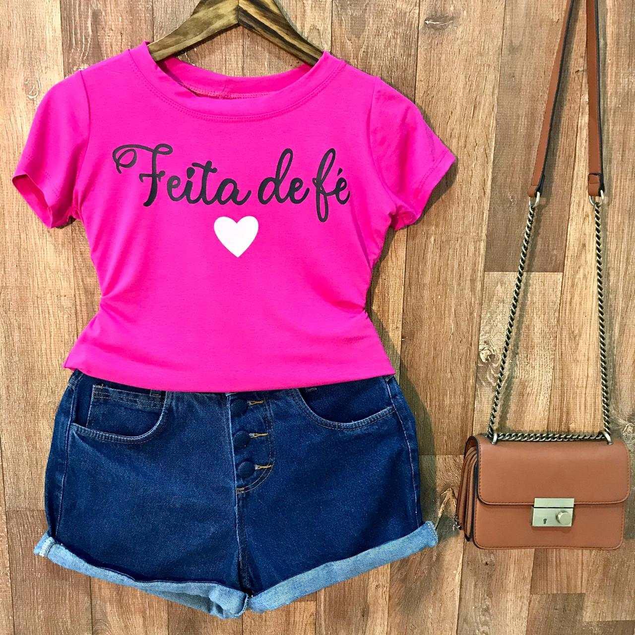 T-shirt Feita de Fé