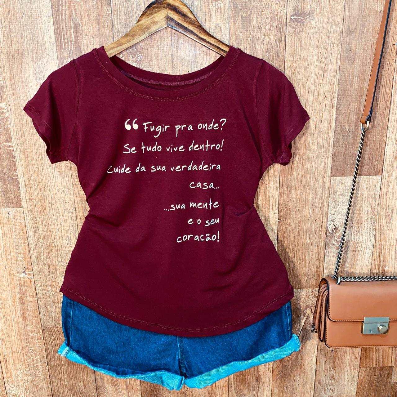 T-shirt Fugir Pra Onde...