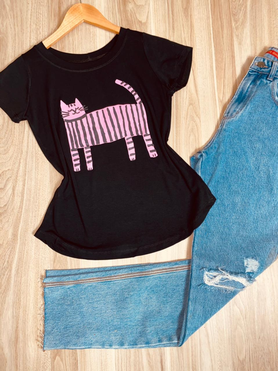 T-shirt Gato Listrado
