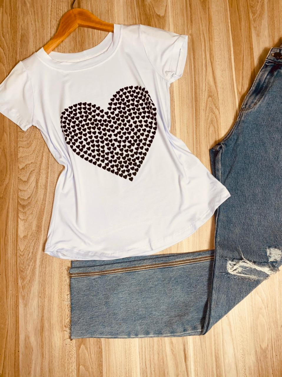 T-shirt Mini Corações