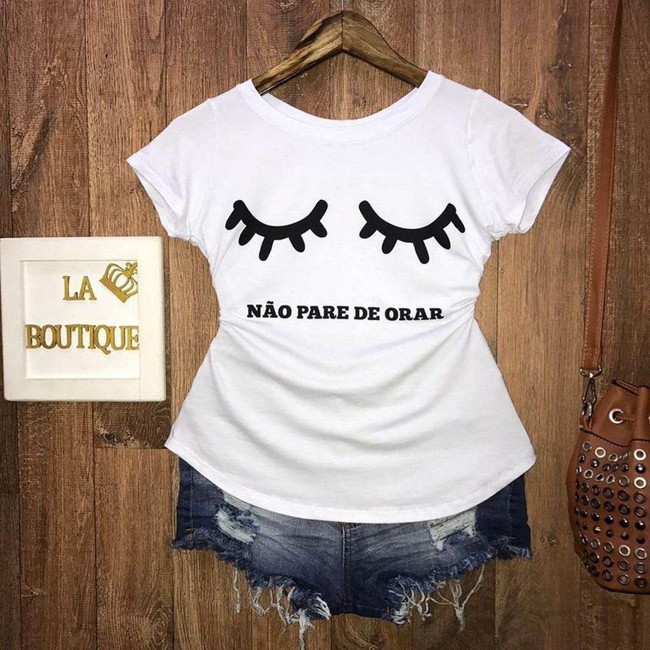 T-shirt Não Pare de Orar