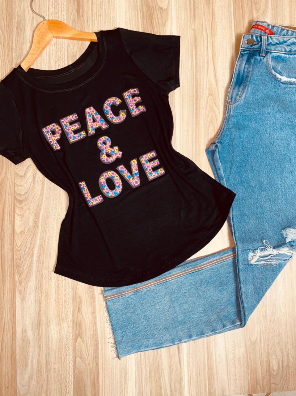 T-shirt Peace e Love