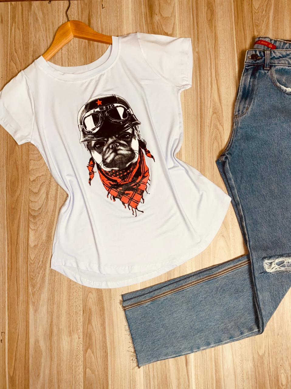 T-shirt Pug Aviador