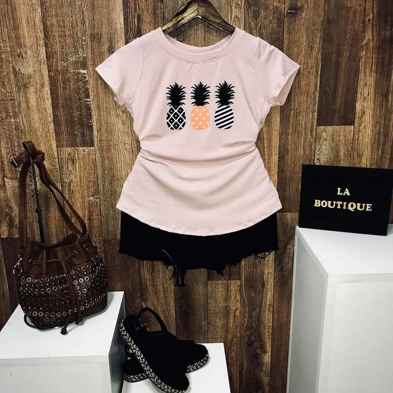 T-shirt Triplo Abacaxi