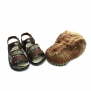 Kit Sandalia + Mascara Dinossauro Jurassic Park Mask Meninos