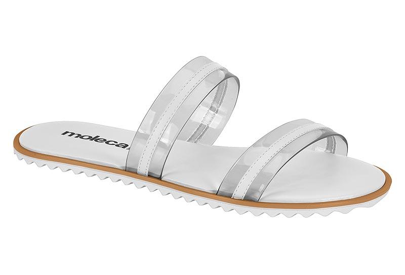 Rasteira Moleca Flat Tiras Transparentes Feminino 5464101