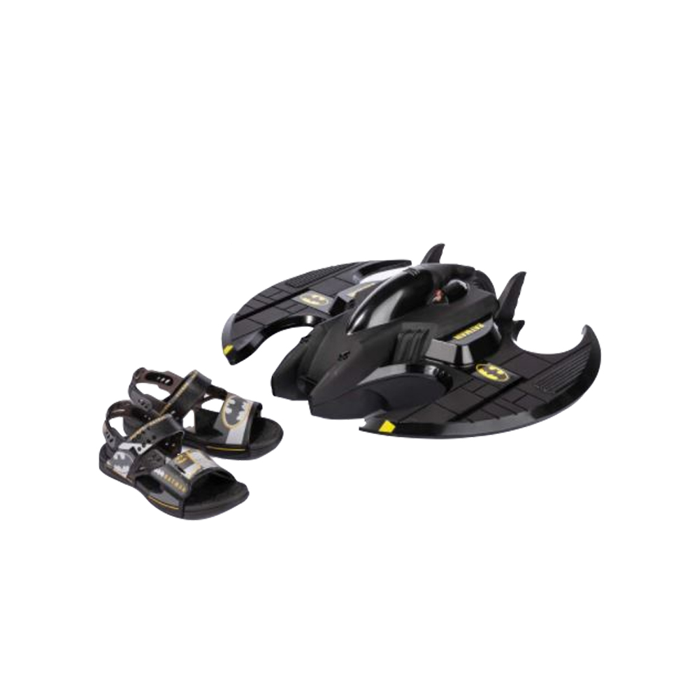 Sandália Batman Batwing Com Nave Grendene Kids 22518
