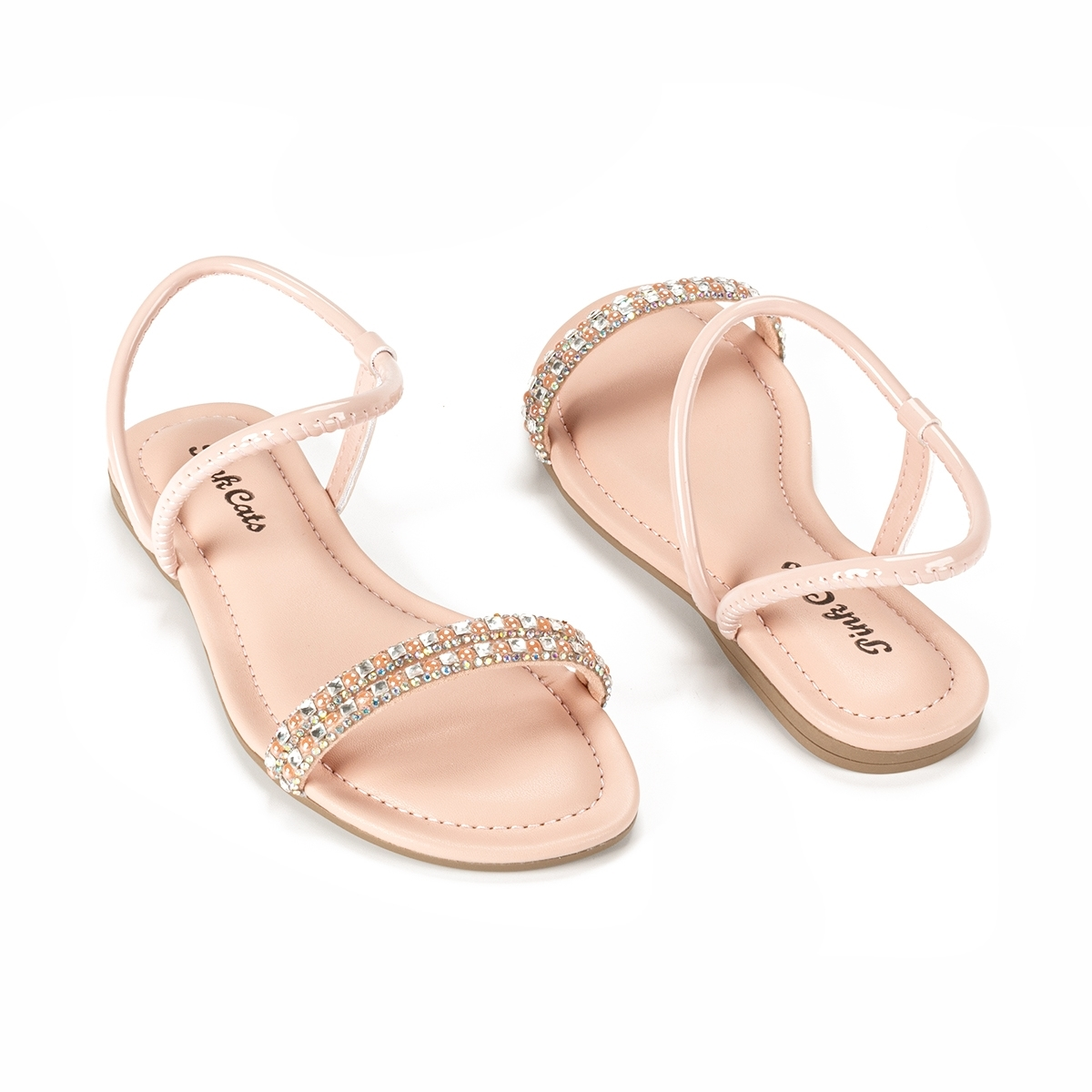 Sandalia Rasteira Infantil Menina Pink Cats V2133