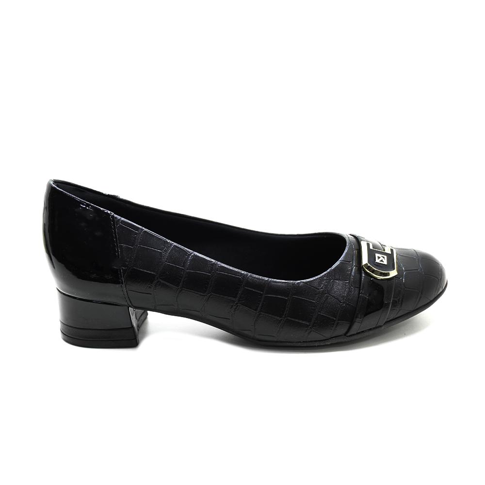 Sapato bico fino salto baixo conforto Piccadilly 140122