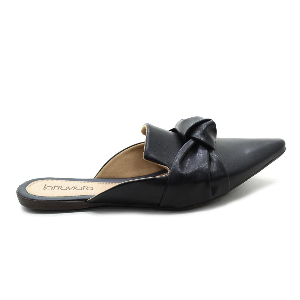 Sapato Feminino Mule Sapatilha Bico Fino 1420005