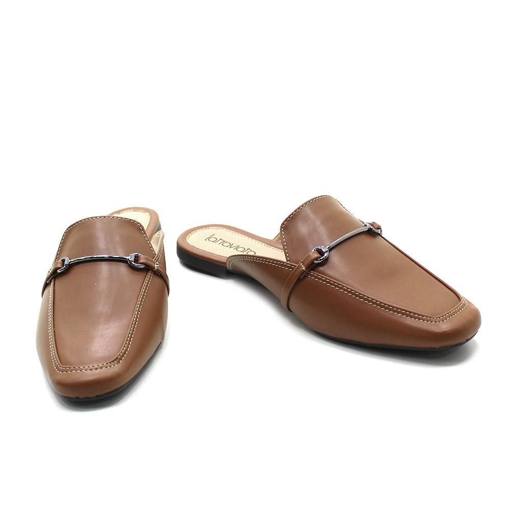 Sapato Feminino Mule Sapatilha com fivela 1420003