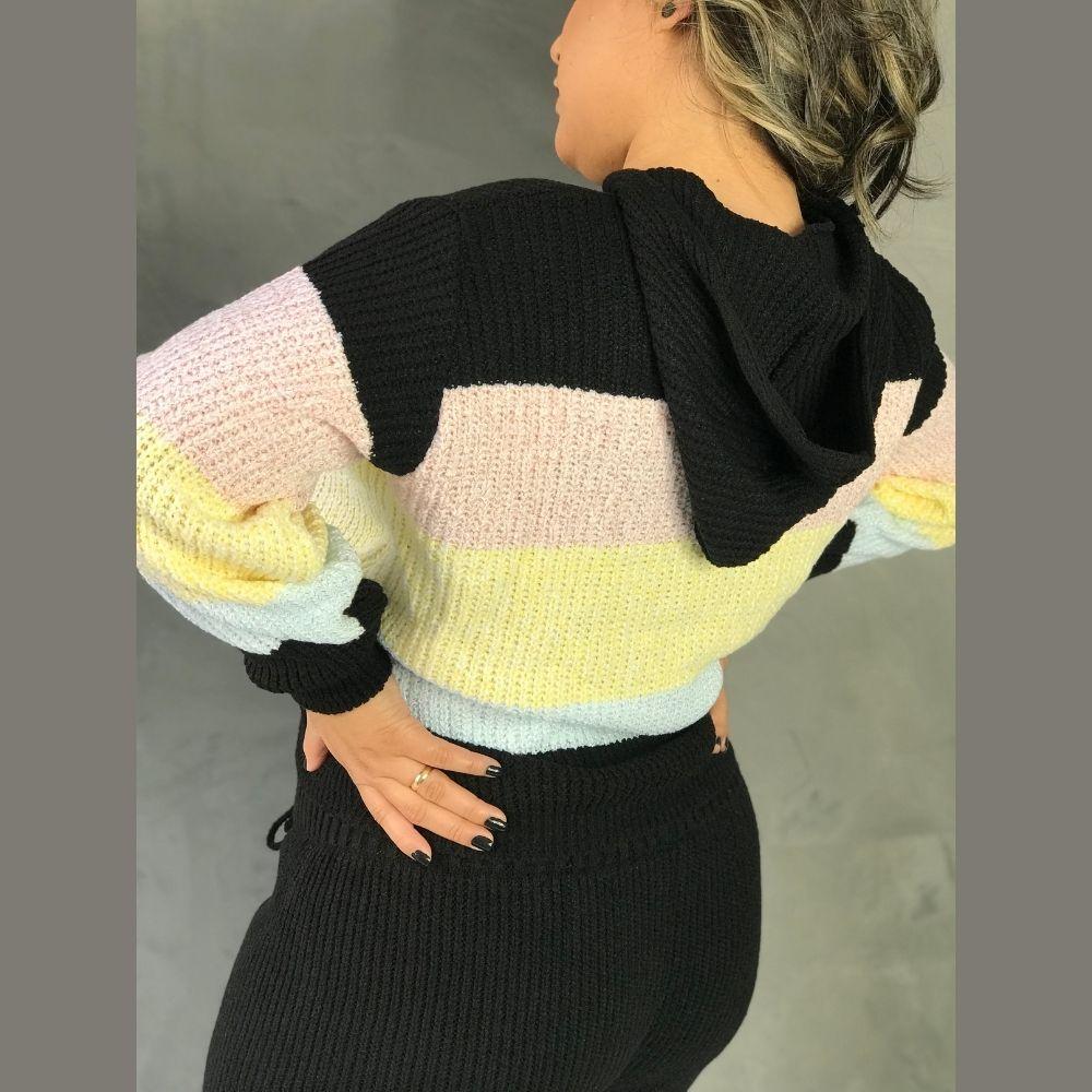 Conjunto Feminino de Tricot Modelo Algodão Doce