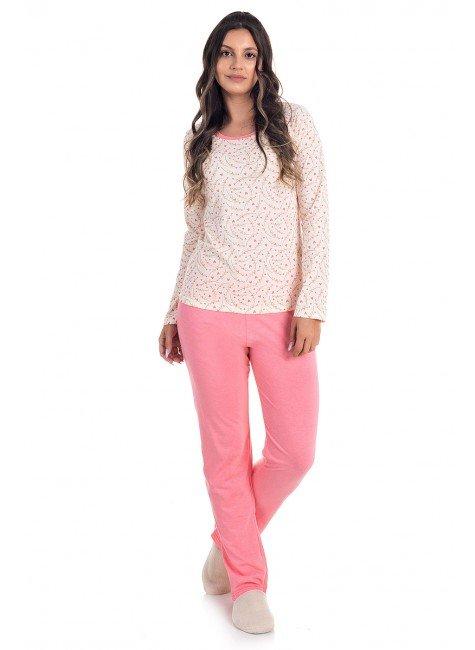 Pijama Feminino Longo 100% Algodão
