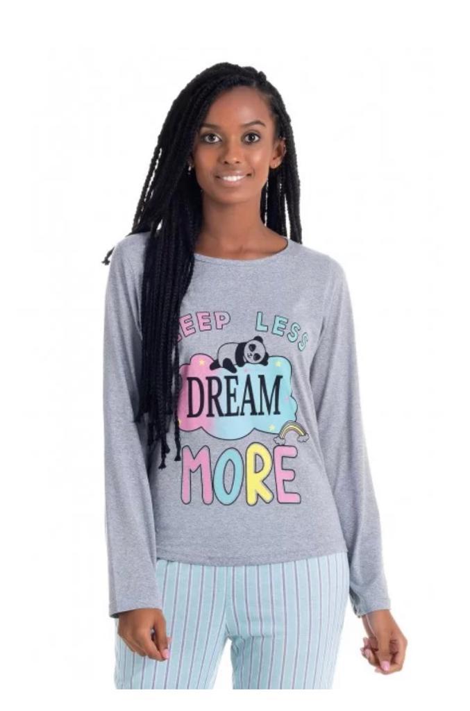 Pijama Feminino Longo de Malha