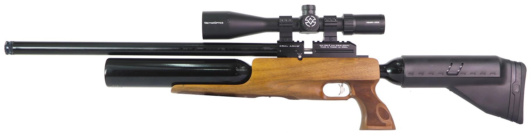 Carabina de Pressão Kral Arms PCP PUNCHER BIGMAX Wood 6.35mm
