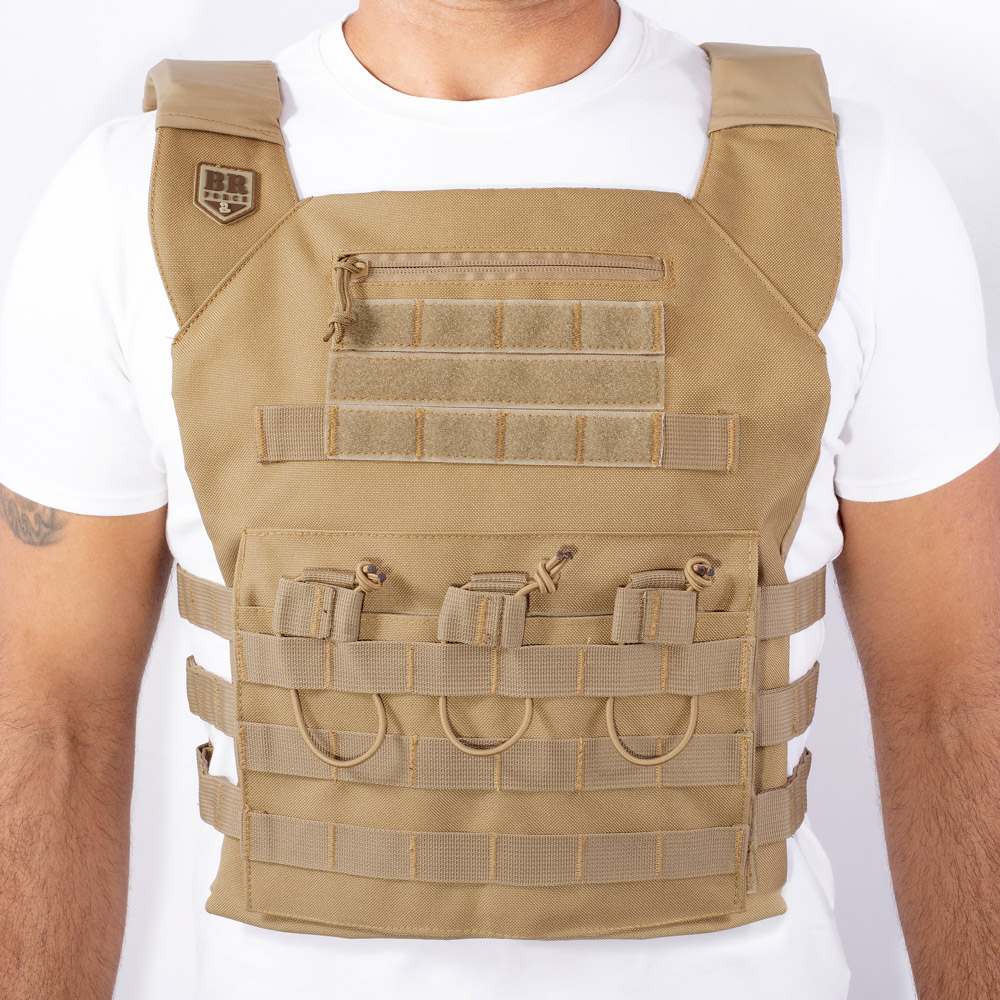 Colete Tático BRFORCE Plate Carrier Coyote Tan