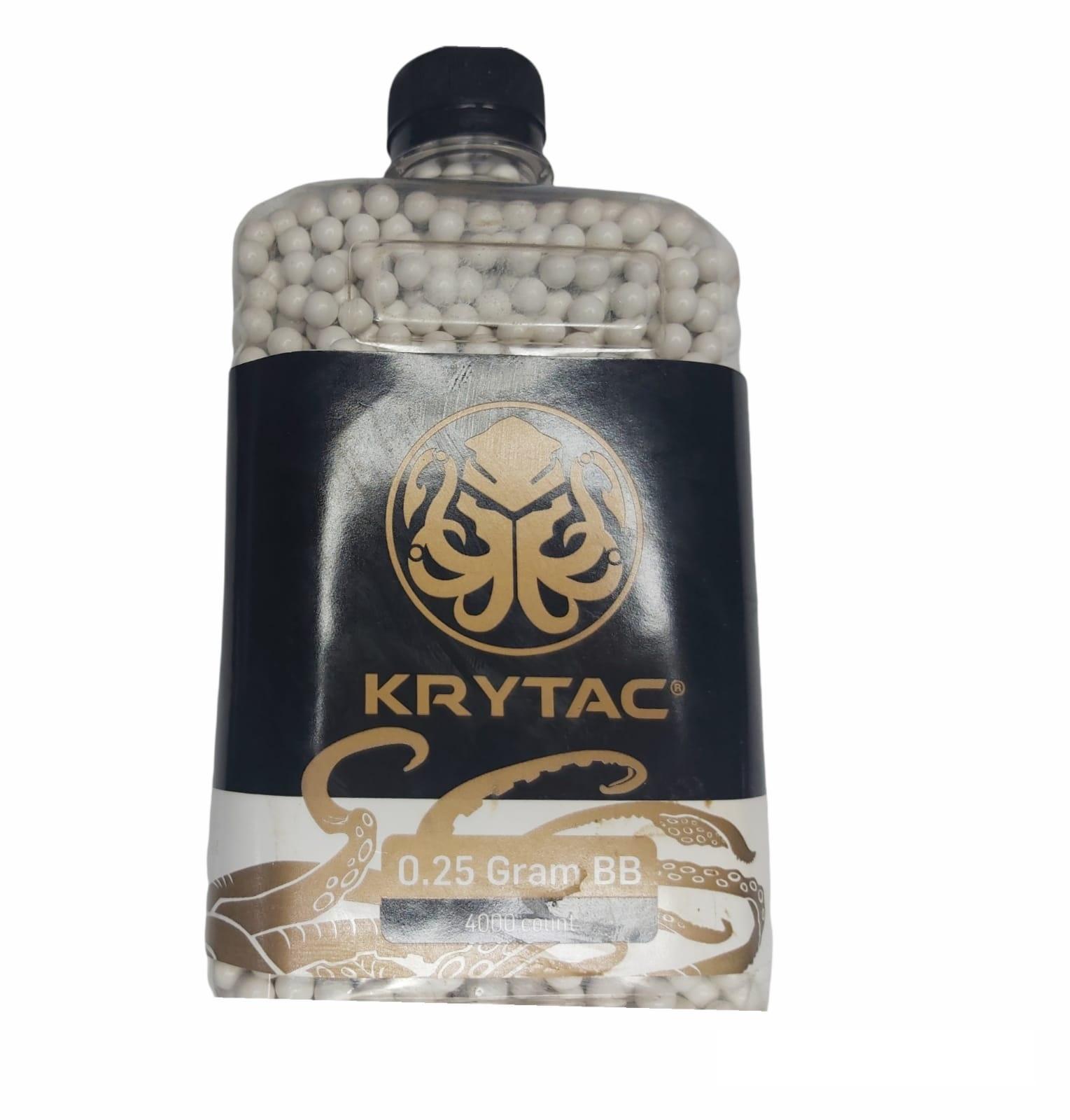 Munição Airsoft Krytac 0,25g com 4 mil unidades
