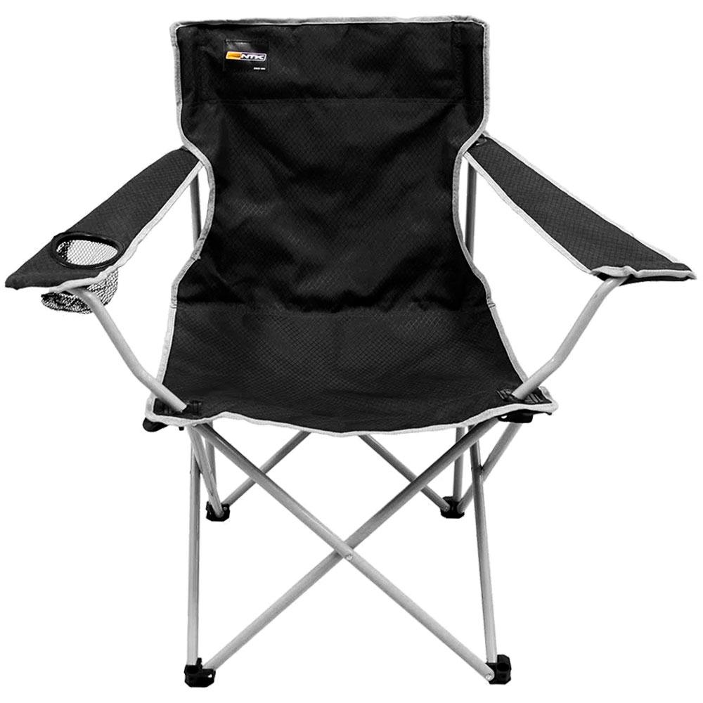 Cadeira Dobrável Para Camping Alvorada Preta - NAUTIKA