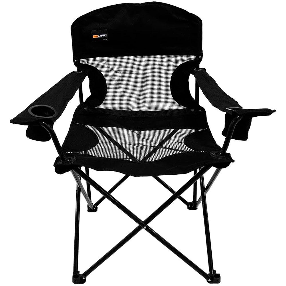 Cadeira Dobrável Para Camping Fresno Preta - NAUTIKA
