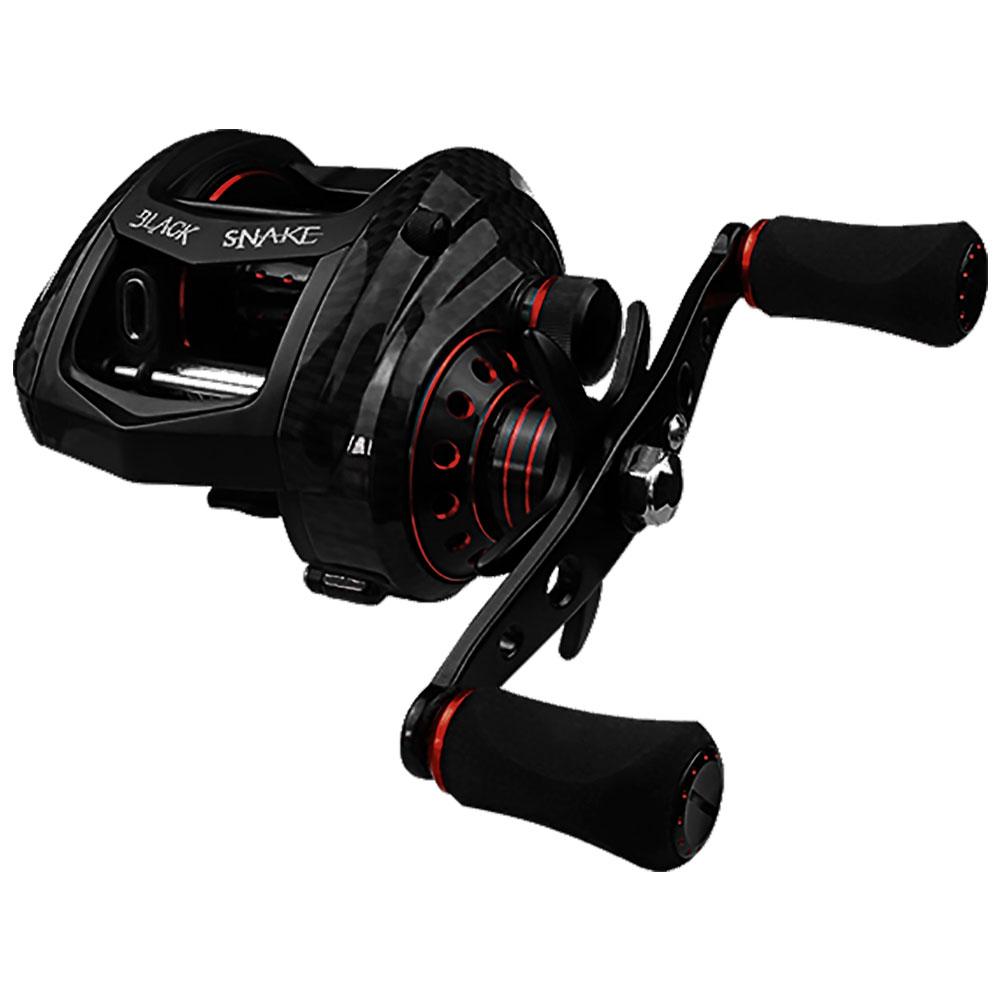 Carretilha Black Snake Red 7 Rolamentos Drag 14kg Esquerda - ALBATROZ FISHING