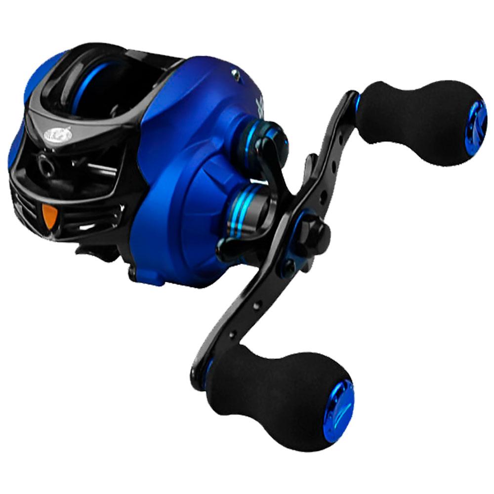 Carretilha Coral Blue 6 Rolamentos Drag 4kg Esquerda - ALBATROZ FISHING