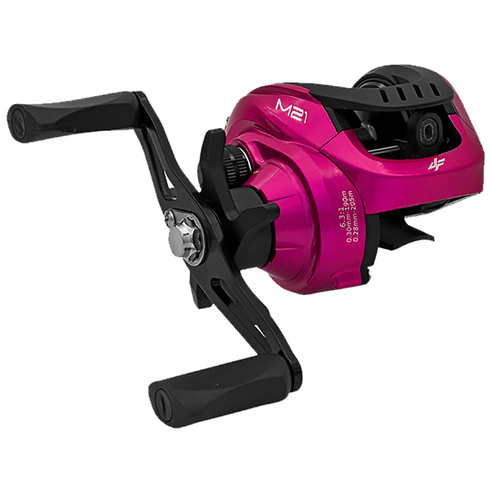 Carretilha M21 Slim Pink 4 Rolamentos Drag 5kg Direita - ALBATROZ FISHING