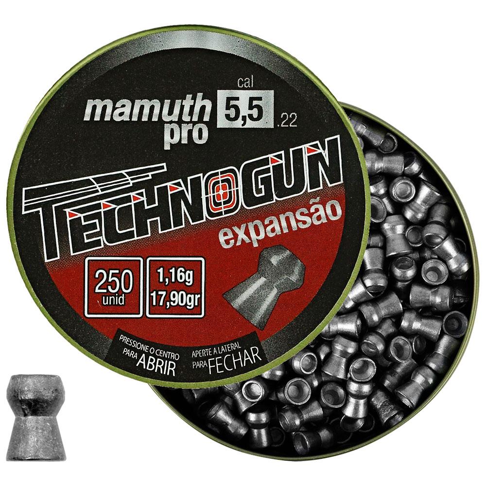 Chumbinho Mamuth Pro Expansão 5.5mm 250un. - TECHNOGUN