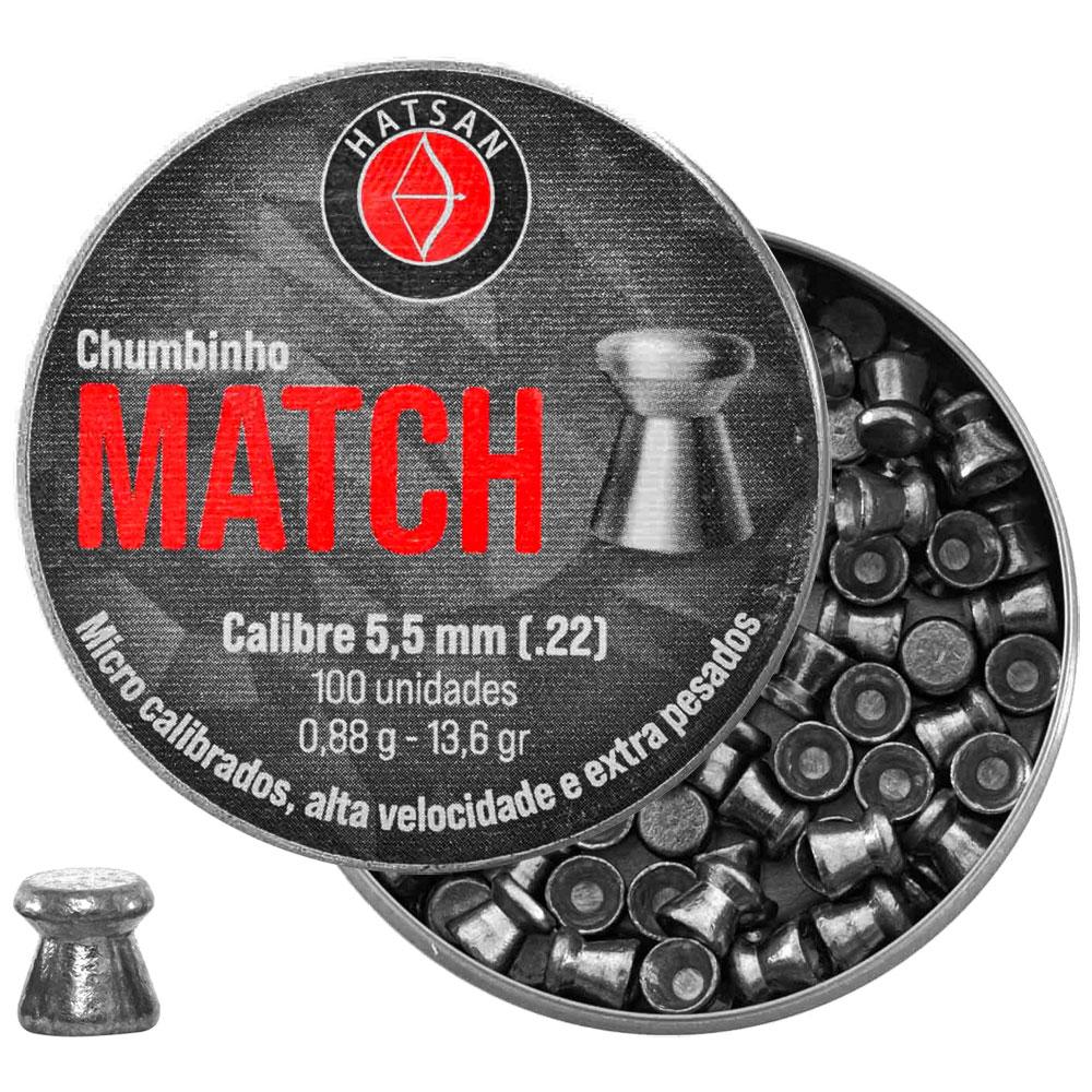 Chumbinho Match 5.5mm 100un. - HATSAN