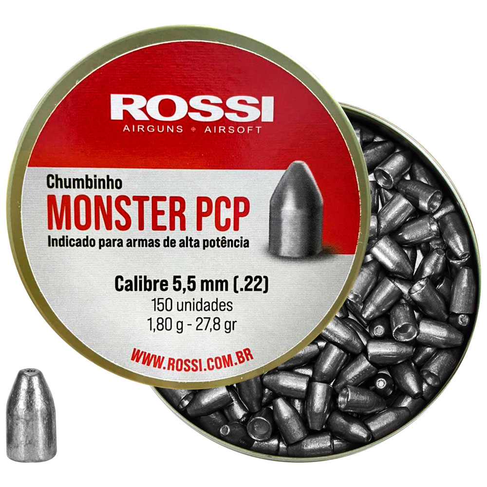 Chumbinho Monster PCP 5.5mm 150un. - ROSSI