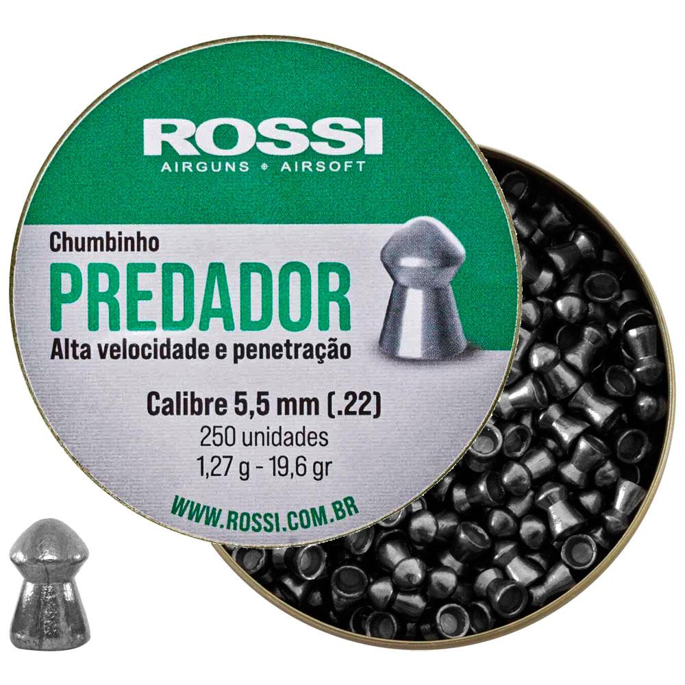 Chumbinho Predador 5.5mm 250un. - ROSSI