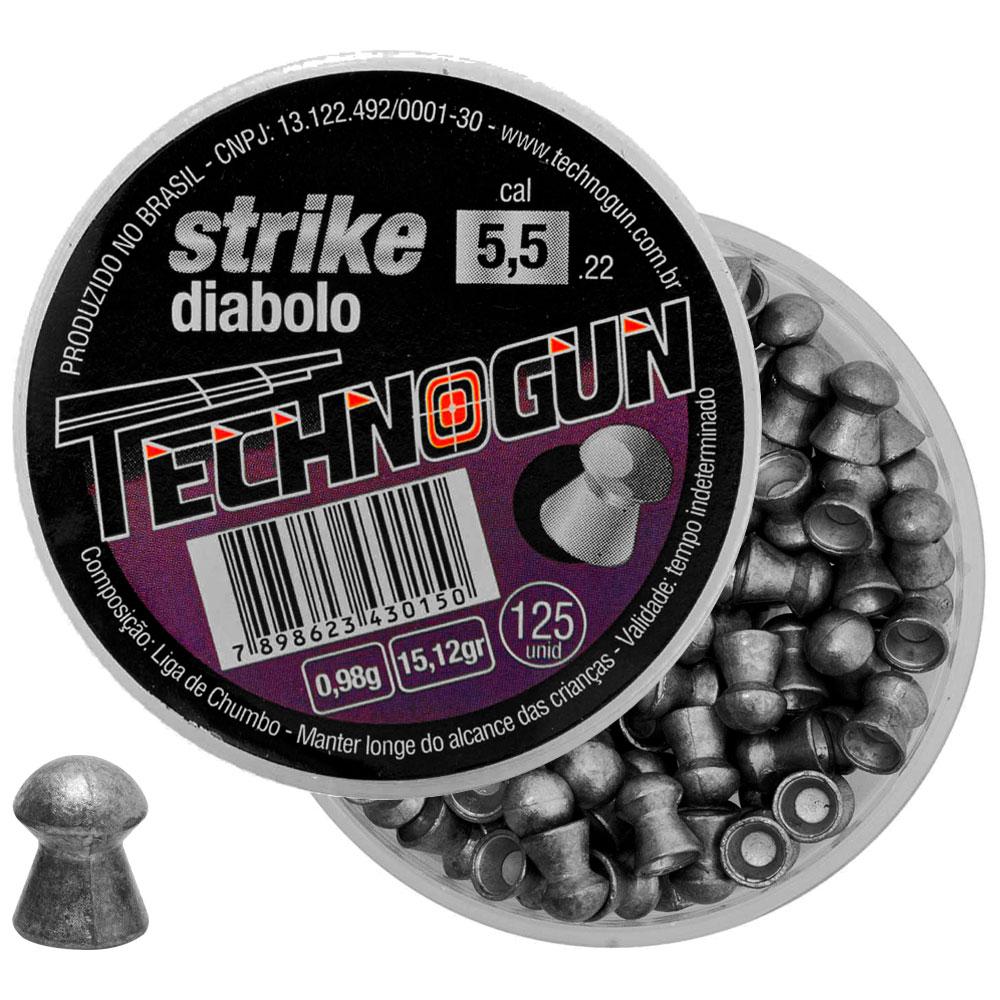Chumbinho Strike Diabolo 5.5mm 125un. - TECHNOGUN