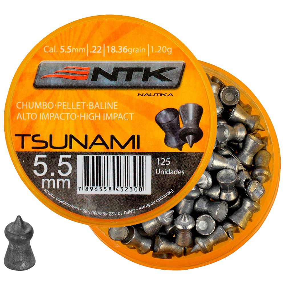 Chumbinho Tsunami 5.5mm 125un. - NAUTIKA