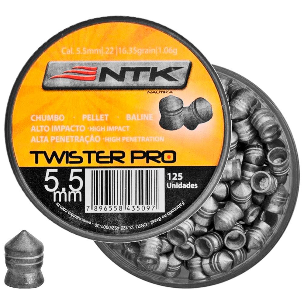 Chumbinho Twister Pro 5.5mm 125un. - NAUTIKA
