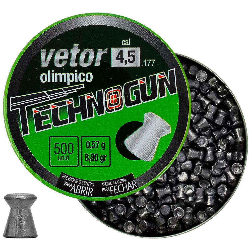 Chumbinho Vetor Olímpico 4.5mm 500un. - TECHNOGUN