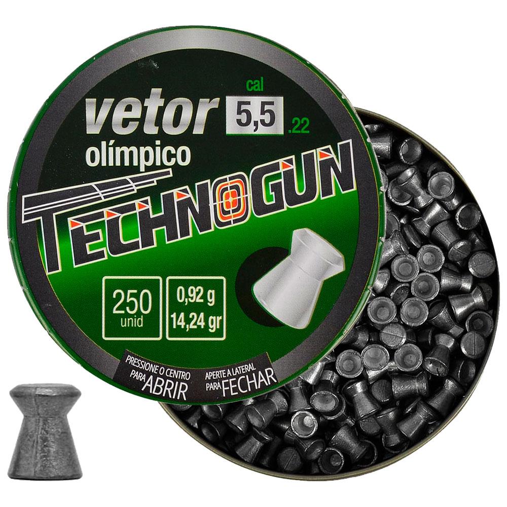 Chumbinho Vetor Olímpico 5.5mm 250un. - TECHNOGUN