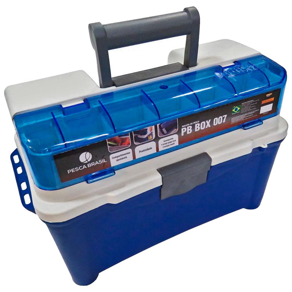 Maleta Para Pesca Box 007 Azul - PESCA BRASIL