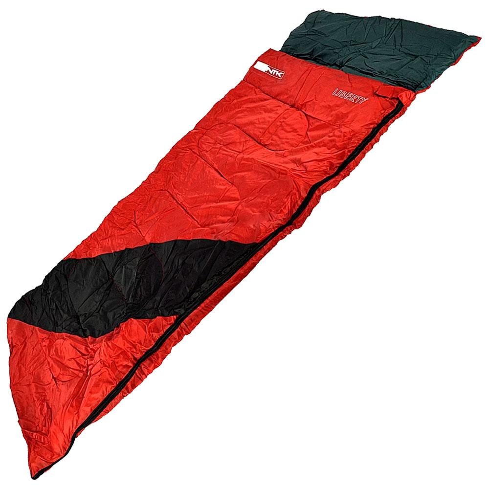 Saco De Dormir Liberty Vermelho e Preto 4°C à 10°C - NAUTIKA