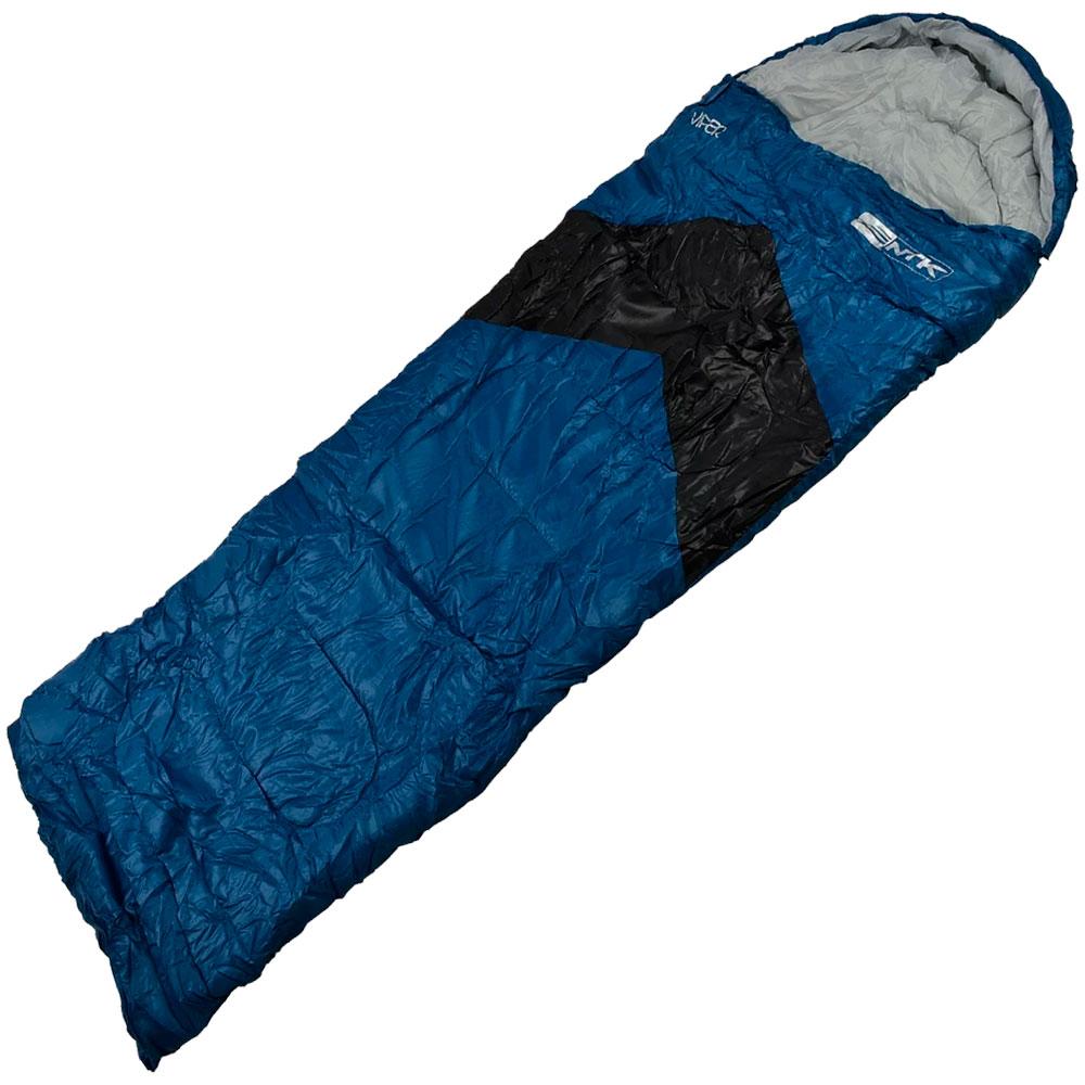 Saco De Dormir Viper Azul e Preto 5°C à 12°C - NAUTIKA