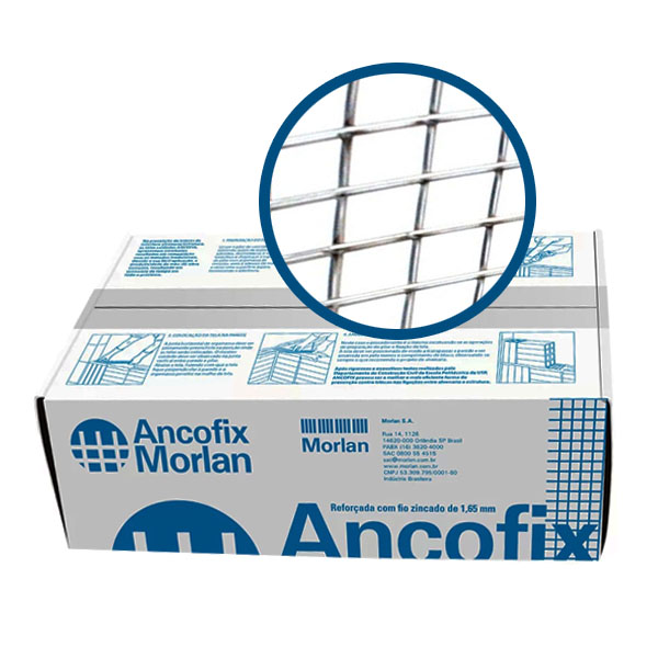 Ancofix -  Tela Soldada para alvenaria Galvanizada