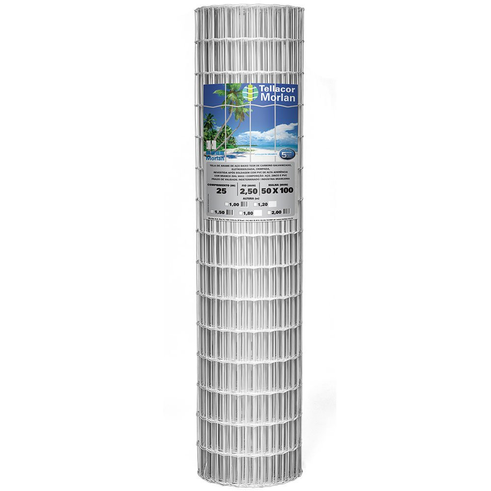 Meganet Branca - Malha 5cmx10cm - Rolo 25,00m