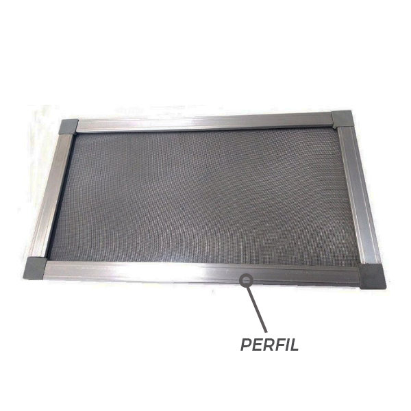 Perfil Mosquiteiro Alumínio Cinza - 3M