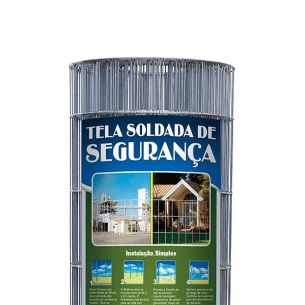 Tela Soldada Galvanizada - Malha 5x15cm - Fio 2,30mm (25,00metros)