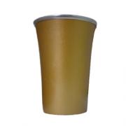 Cuia Copo de Tereré de Alumínio Dourado - 200 ML