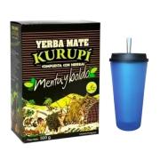 Kit Tereré - Erva Kurupí 500gr + Conjunto Cuia 350ml E Bomba